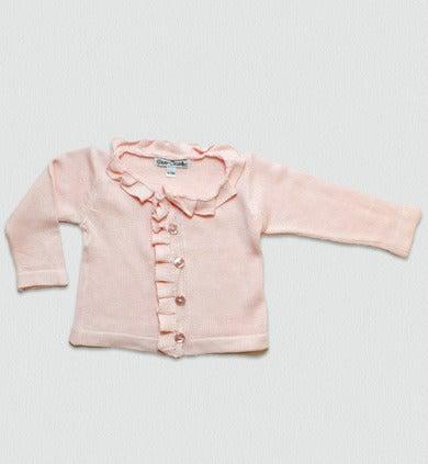 Sweaterknit Ruffle Cardigan