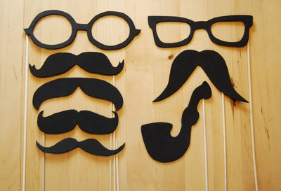 Image of Mischievous Moustaches, Glasses and Pipe / Fun Photo Props
