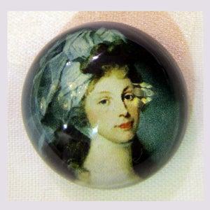 Image of Bouton résine: princesse Louisa
