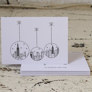 Image of New York Christmas Pack of Five Christmas Cards