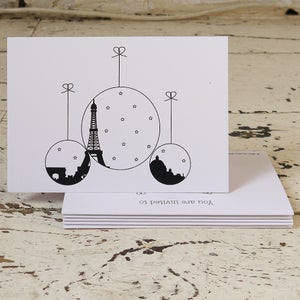 Image of Paris Christmas Pack of Five Christmas Cards