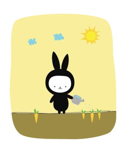 Image of Black Bunny 8x10 Print