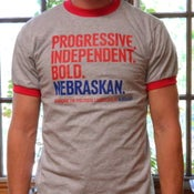 "Image of ""Progressive. Independent. Bold. Nebraskan."" Shirt"