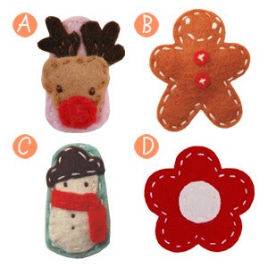 Image of little girl hair clips holiday #1