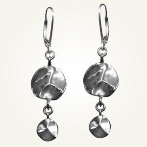 Image of Tide Pool Earrings, Sterling Silver