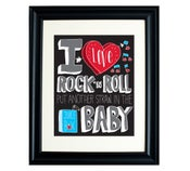 Image of I Love Rock 'N Roll 11 x 17 Print
