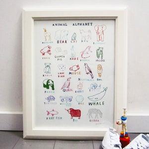 Image of 'Animal Alphabet' Print