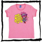 "Image of Ladies T-shirt, Ringer, Pink, Mazey ""I cry Glitter"""