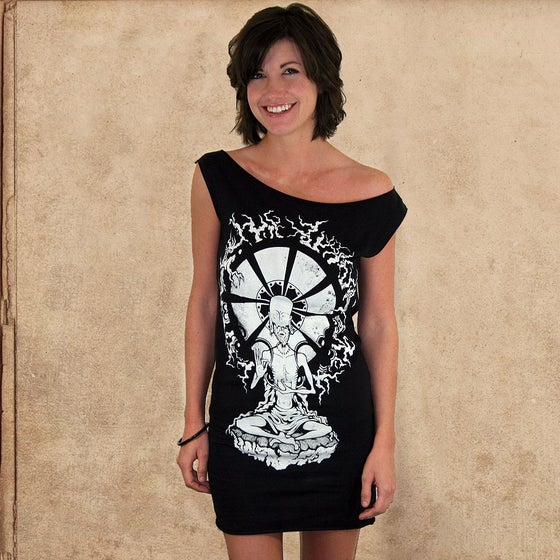 Image of Siddhartha dress - discharge inks - girls