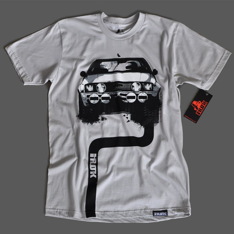 Image of Audi Quattro Rally T-shirt (Light Gray)