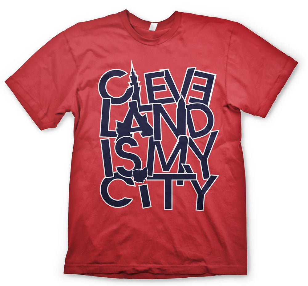 Ilovecle cleveland is my city red for Cleveland t shirt printing