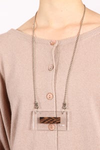 Image of (+90) plexi-wood Necklace