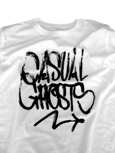 Image of Casual Ghosts - 'Handstyle' White