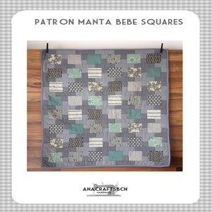 Image of patrón manta bebé squares