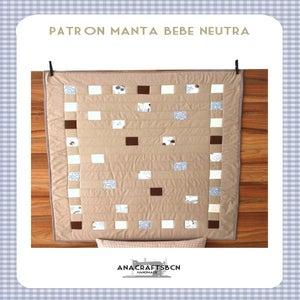 Image of patrón manta bebé neutra