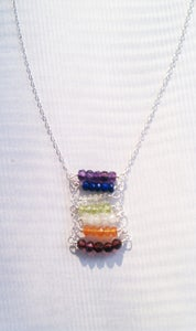 Image of Chakras Ladder Necklace 2