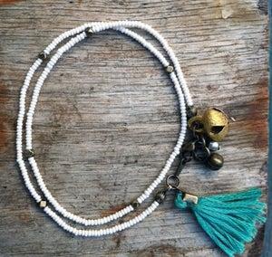 Image of Beaded tassel bracelet by Valentine