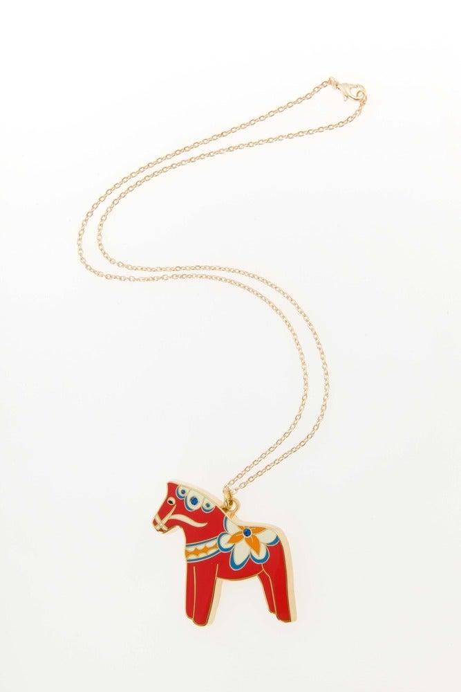 Image of Dala Horse Necklace