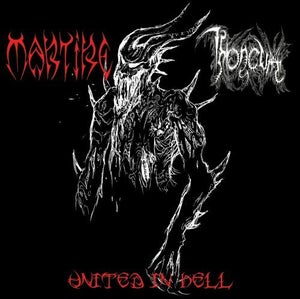 Image of United in Hell - Martire / Throneum split CD