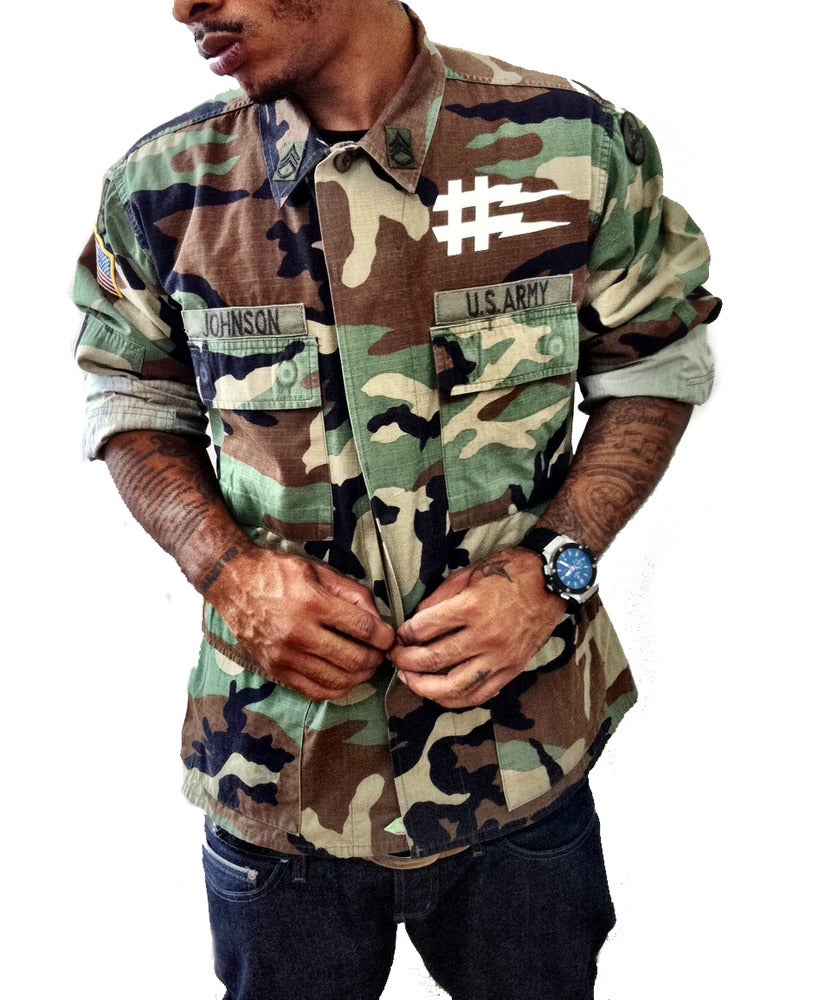 Image of No Sucka S#it Woodland Camo | Jacket