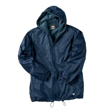 Image of Dickies 33-237 FLEECE LINED HOODED NYLON JACKET
