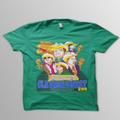 Image of The Cleverlyfest Kelly Green T Shirt