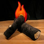 Image of Logs and Fire - soft sculpture
