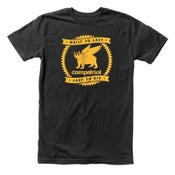 Image of Compatriot Built To Last T-Shirt (Charcoal/Yellow)