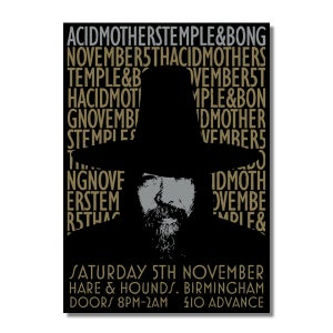 Image of ACID MOTHERS TEMPLE & BONG Birmingham 'Guy Fawkes' Gig Poster (A3)