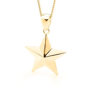 Image of Star Pendant - In 9ct Solid Yellow Gold