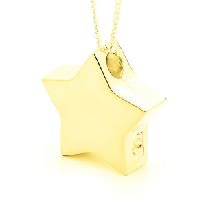 Image of Star Locket - 9ct Yellow Gold