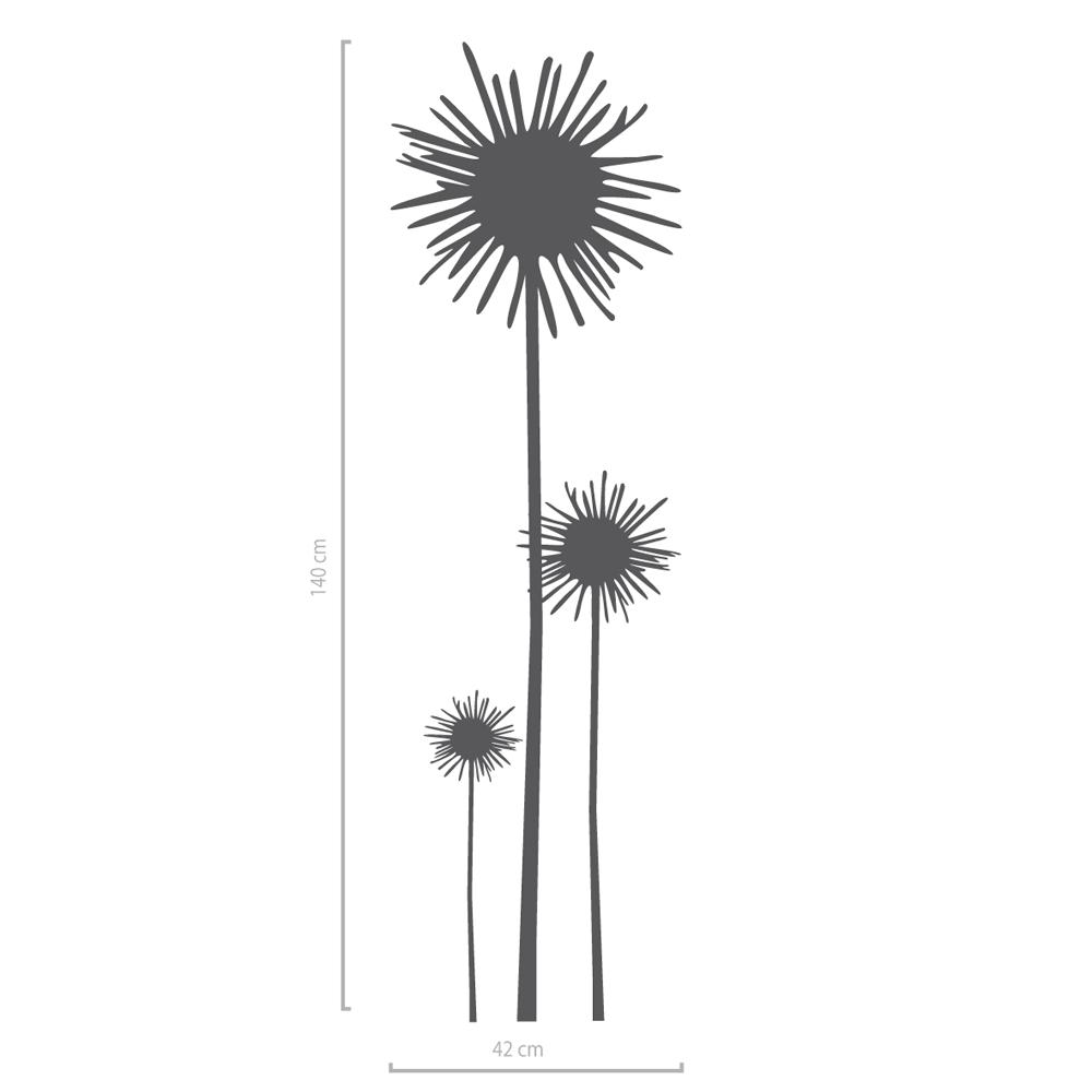 Image of Wandaufkleber Blume Anja