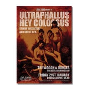 Image of ULTRAPHALLUS & HEY COLOSSUS Birmingham Gig Poster (A3)