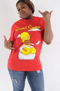 Image of DTC Stoner Simpson T-Shirt in Red