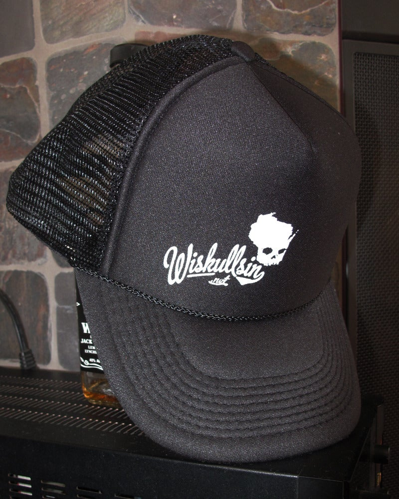 Image of Wiskullsin Hat (Black/Black)