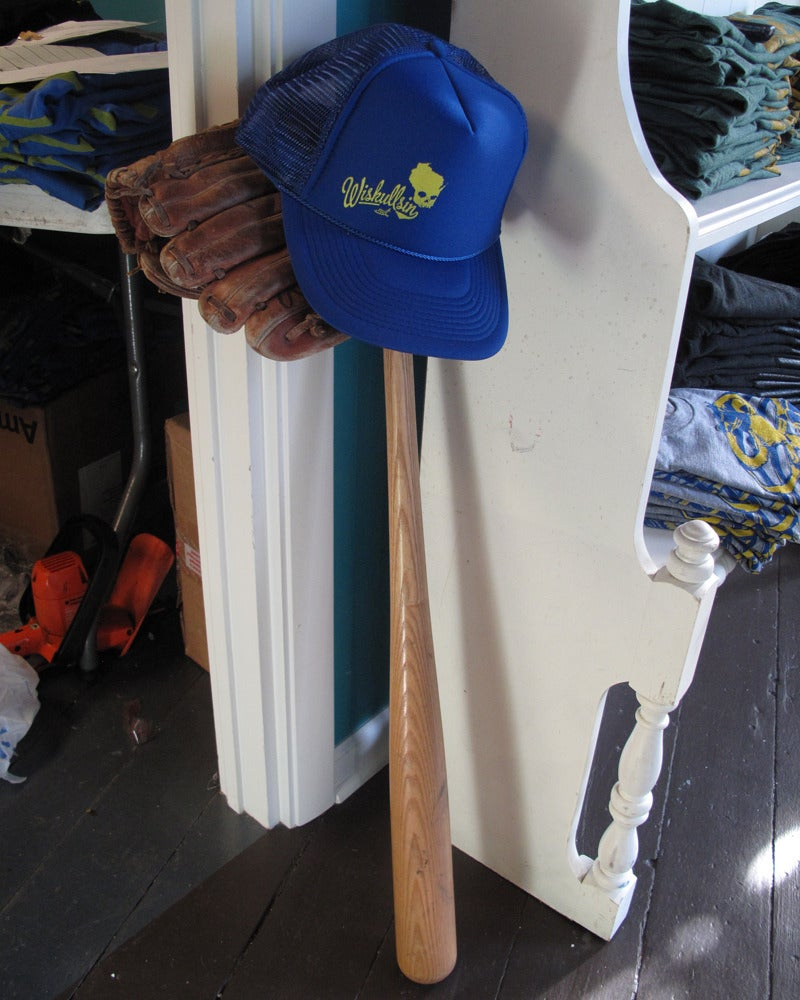Image of Wiskullsin Hat (Blue/Yellow)