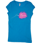 """Image of Women's Turquoise """"JMag Signature"""" Tee"""