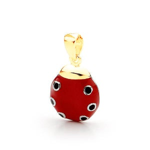 Image of Bears Of Hope Ladybird Bracelet Charm - 9ct Solid Yellow Gold (Ceramic Colouring)