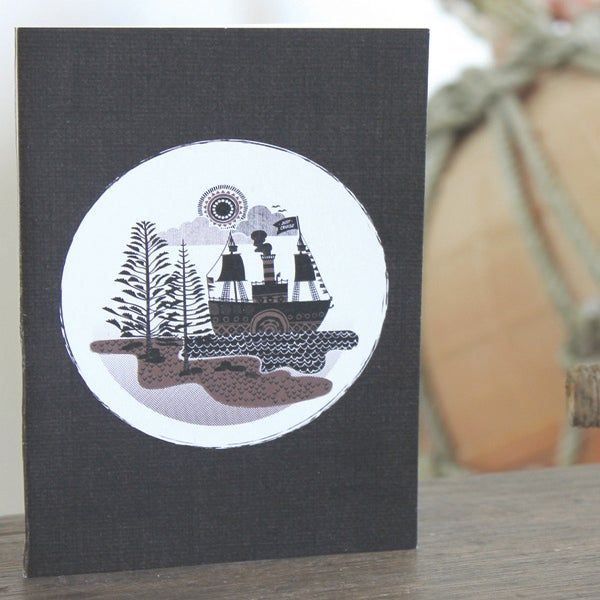 Image of Paddleboat Greeting Card