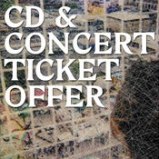 Image of cut price CD + ticket bundle