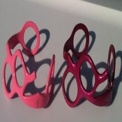 Image of (Pink or Fushia Purple) Real Scissors Bracelet - Wrist Cuff - Bangle