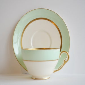 Image of Set of 9 Tiffany style Tea Cups