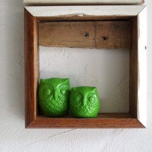 Image of Set of Grandma and Grandpa Owl Ornaments