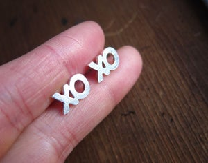Image of xoxo Ring, Hugs and Kisses - Custom 4 letter (initial) silver ring