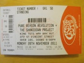 Image of Glasgow, King Tuts. Gig Ticket. 28th November 2011