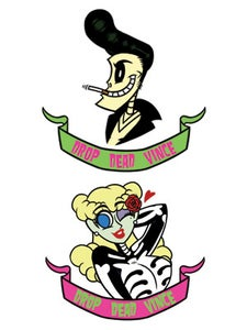 Image of Drop Dead Vince - Betty & Vince Stickers