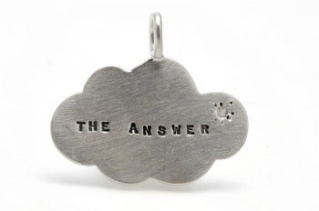 Image of Silver The Answer with a diamond charm