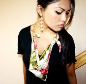 Image of Floral Scarf // Chain Necklace