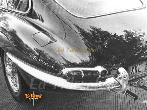 """Image of """"What a Jag!"""" 11x17 print"""