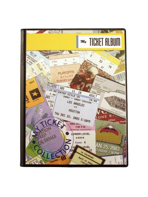 Image of Sports Cover Ticket Album